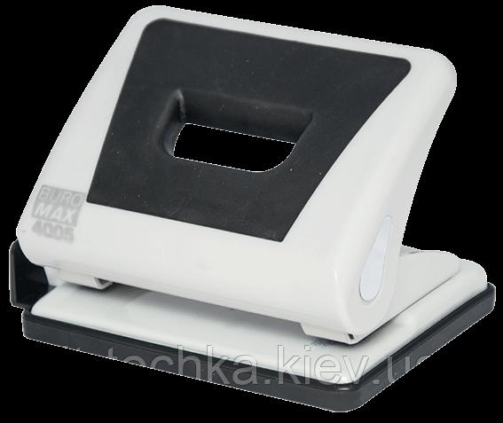 Дырокол пластиковый с резиновой вставкой, 15л., серый bm.4005-09