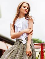 """Элегантная летняя шифоновая женская блуза """"Каскад Элеганс"""""""