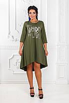ДР1518 Платье ассиметричное размеры 42-56, фото 3