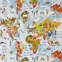 Ткань для штор в детскую Adventure My world