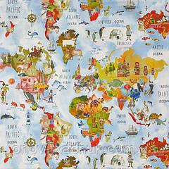Тканина для штор в дитячу Adventure My world