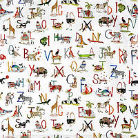 Ткань для штор в детскую Animal alphabet My world, фото 1