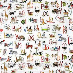 Тканина для штор в дитячу Animal alphabet My world