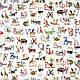Ткань для штор в детскую Animal alphabet My world