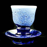 Чайная пара чашка кофейная керамическая ручной работы Кубок Эспрессо 80мл с блюдцем 9625