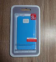 Чехол Samsung i9100 i9105 Galaxy S2 синий накладка для телефона
