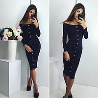 Платье (42, 44, 46) — трикотаж купить оптом и в розницу в одессе  7км