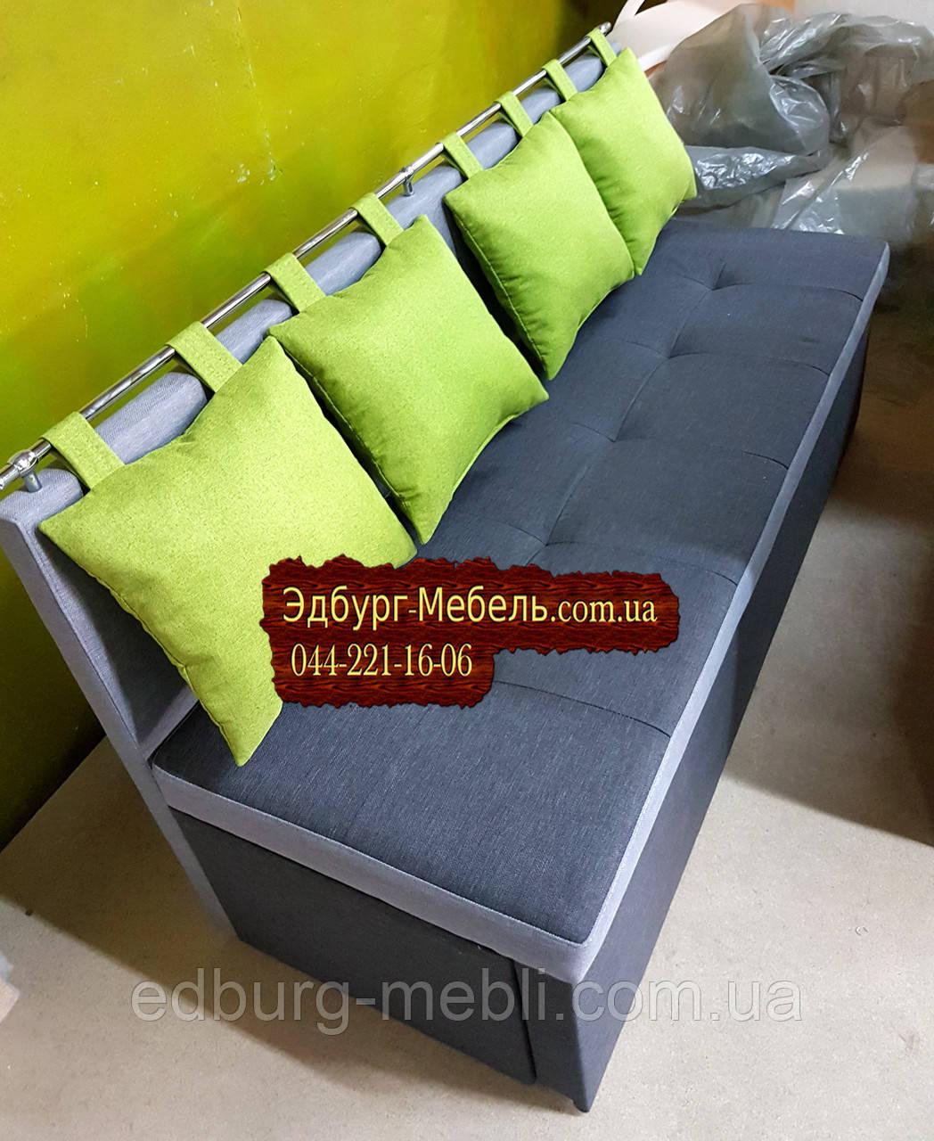 Диван для вузької кімнати з ящиком + спальним місцем 1600х550х870мм