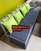 Диван для вузької кімнати з ящиком + спальним місцем 1600х550х870мм, фото 1