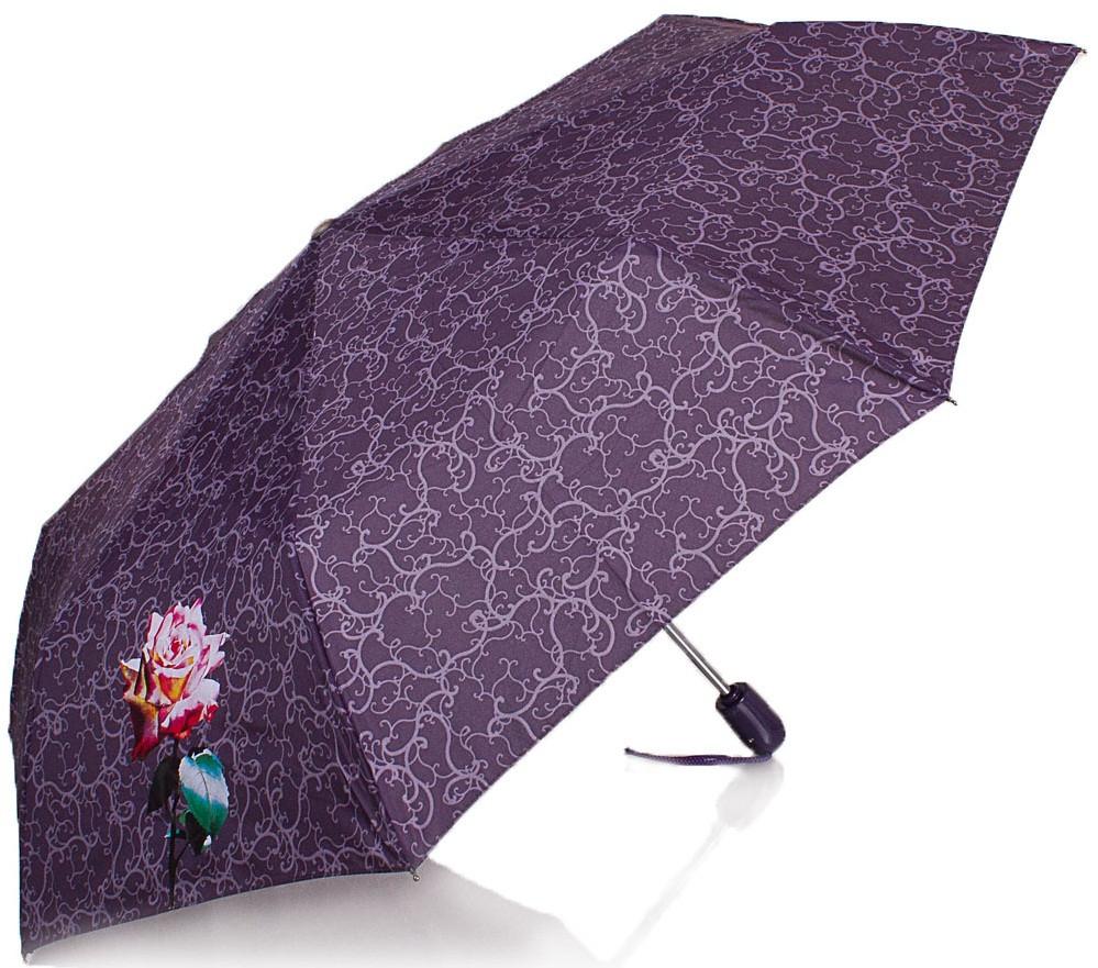 Модный зонт женский автомат AIRTON Z3911-5, цвет фиолетовый. Антиветер!