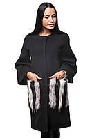 Женское Пальто П-027 Replica Fendi Черный