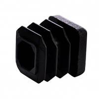 Пластиковая заглушка для профильной трубы 15Х15 мм плоская черная