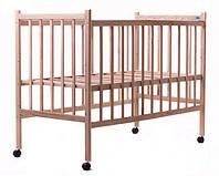 Кровать Наталка ЯБЛ-1 (ровные быльца) ясень без лака