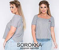 Блузка (42-44,46-48,48-50) —  коттон  купить оптом и в Розницу в одессе 7км