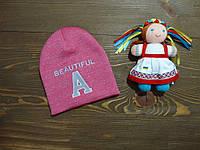 """Демисезонная шапка""""Илай"""" для девочки подростка коралловая р.54-56"""