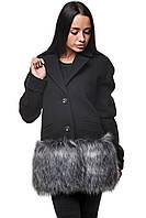 Женское Пальто П-026 Черный