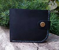 """Чоловічий шкіряний гаманець мужской кожаный кошелек """"Wallet3"""" ручної роботи, натуральна шкіра, на кнопці"""