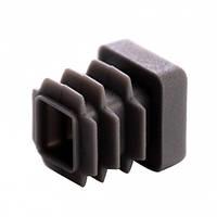 Пластиковая заглушка для профильной трубы 15Х15 мм плоская серая