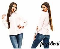 Рубашка (42, 44, 46, 48) — креп-шифон купить оптом и в Розницу в одессе 7км