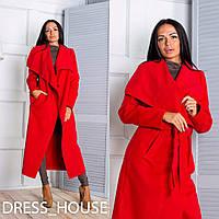 Женское удлиненное пальто-кардиган в разных расцветках o-50276