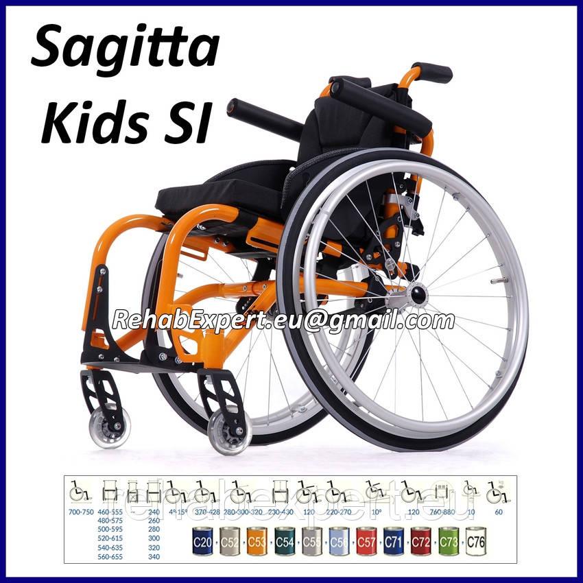 Легкая Активная Инвалидная Коляска Sagitta Kids SI Active Wheelchair