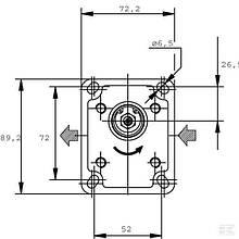 Шестеренный насос CASAPPAсерия POLARIS PLP2024S001S1Gear Pump PLP20.24,5S0-01S1-LMM/MB-N-EL
