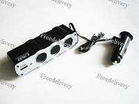 Автомобильный разветвитель 12v тройник, USB