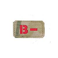 Шквал нашивка B- красный Multicam