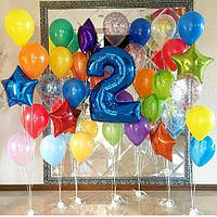 Гелиевая шарики и фольгированная цифра
