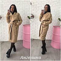 Удлиненное кашемировое пальто-кардиган на запах в расцветках h-3702117
