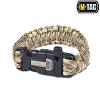 M-Tac браслет паракорд с искровысекателем Coyote/Tan