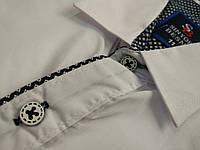 Осенние подростковые белые рубашки-стильные 11 лет. Производство-Турция. (Осень-2017г.)