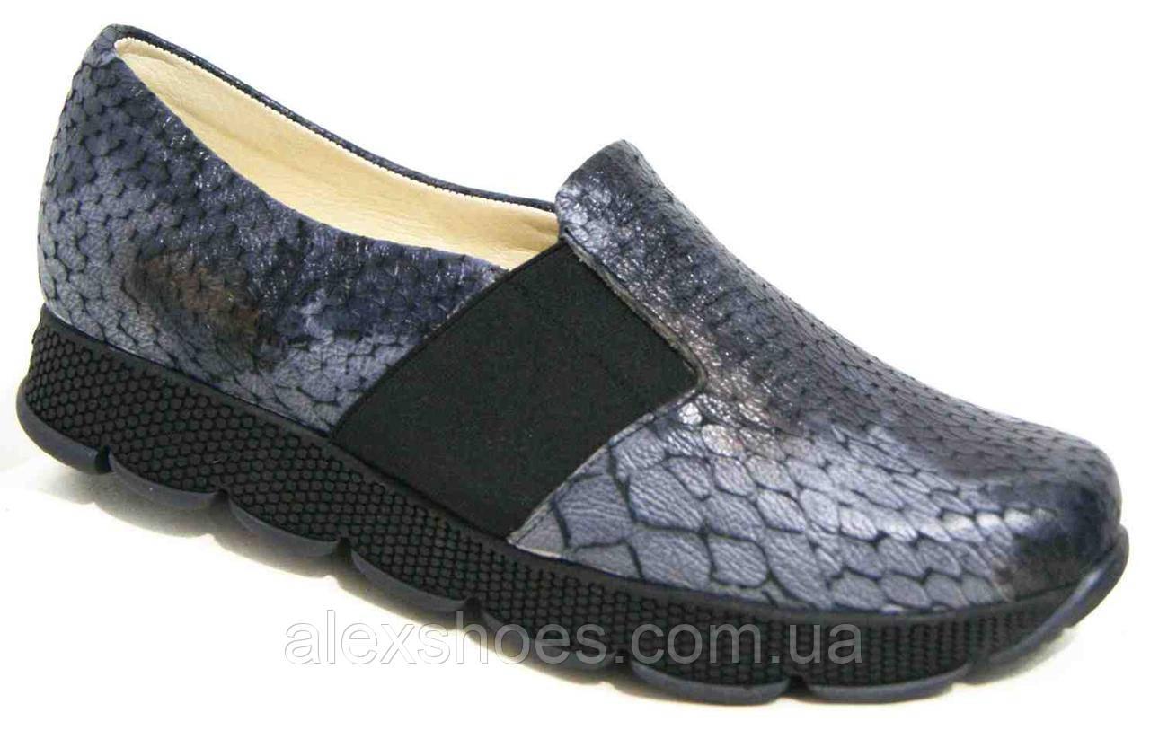Туфли женские большого размера из натуральной кожи от производителя модель В5236