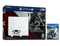 Sony PlayStation 4 Pro (glasier white) Limited Edition + Destiny 2