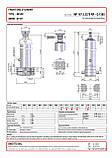 Гидроцилиндр с шарниром и кронштейном Binotto MF 187-5-5375 RP (фронтальный), фото 2