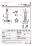Гидроцилиндр с шарниром и кронштейном Binotto MF 165-5-8050 RP (фронтальный), фото 2