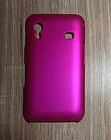 Чехол накладка Samsung S5830 Galaxy Ace розовый