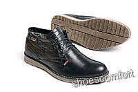 f68b3f3d Классические кожаные зимние ботинки Levi's Б 53 - 01 черные