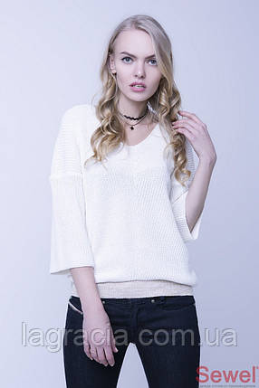 Белый женский джемпер, свитер, фото 2