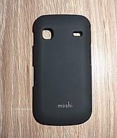 Чехол накладка Samsung S5830 Galaxy Ace черный Moshi