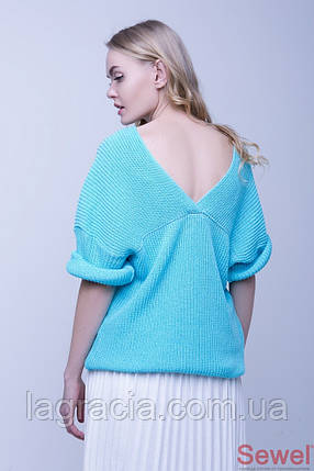 Свободный женский вязаный свитер, фото 2