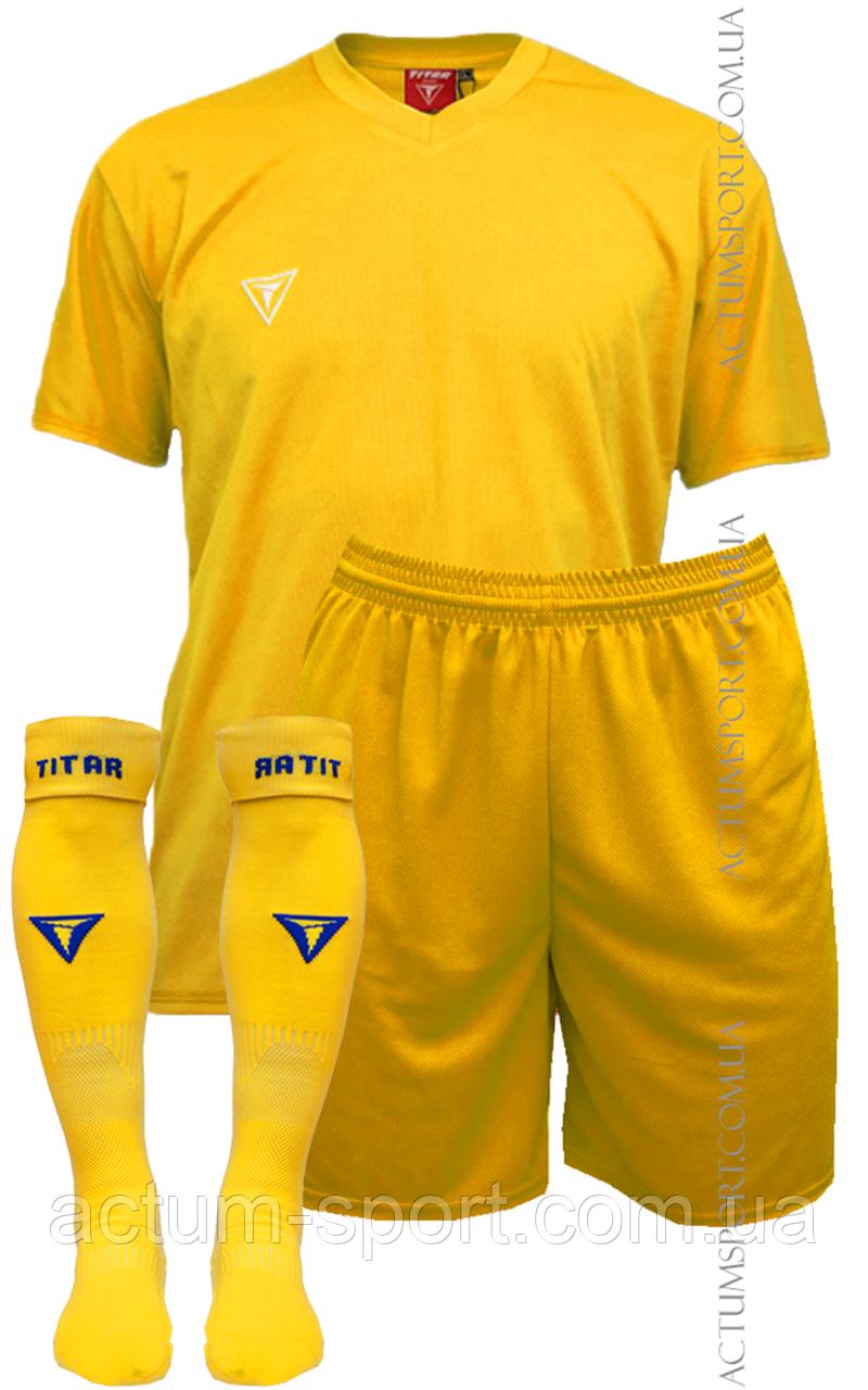 Футбольная форма Universal с гетрами  Желтый, 128