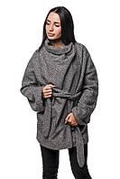 Женское Пальто П-022 Шерсть Серый