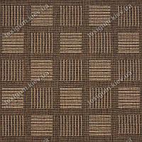Ковролин джутовый Pure art, квадраты, цвет коричневый