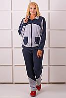 Женский спортивный костюм на осень больших размеров Бонита, цвет серый размер 54-64