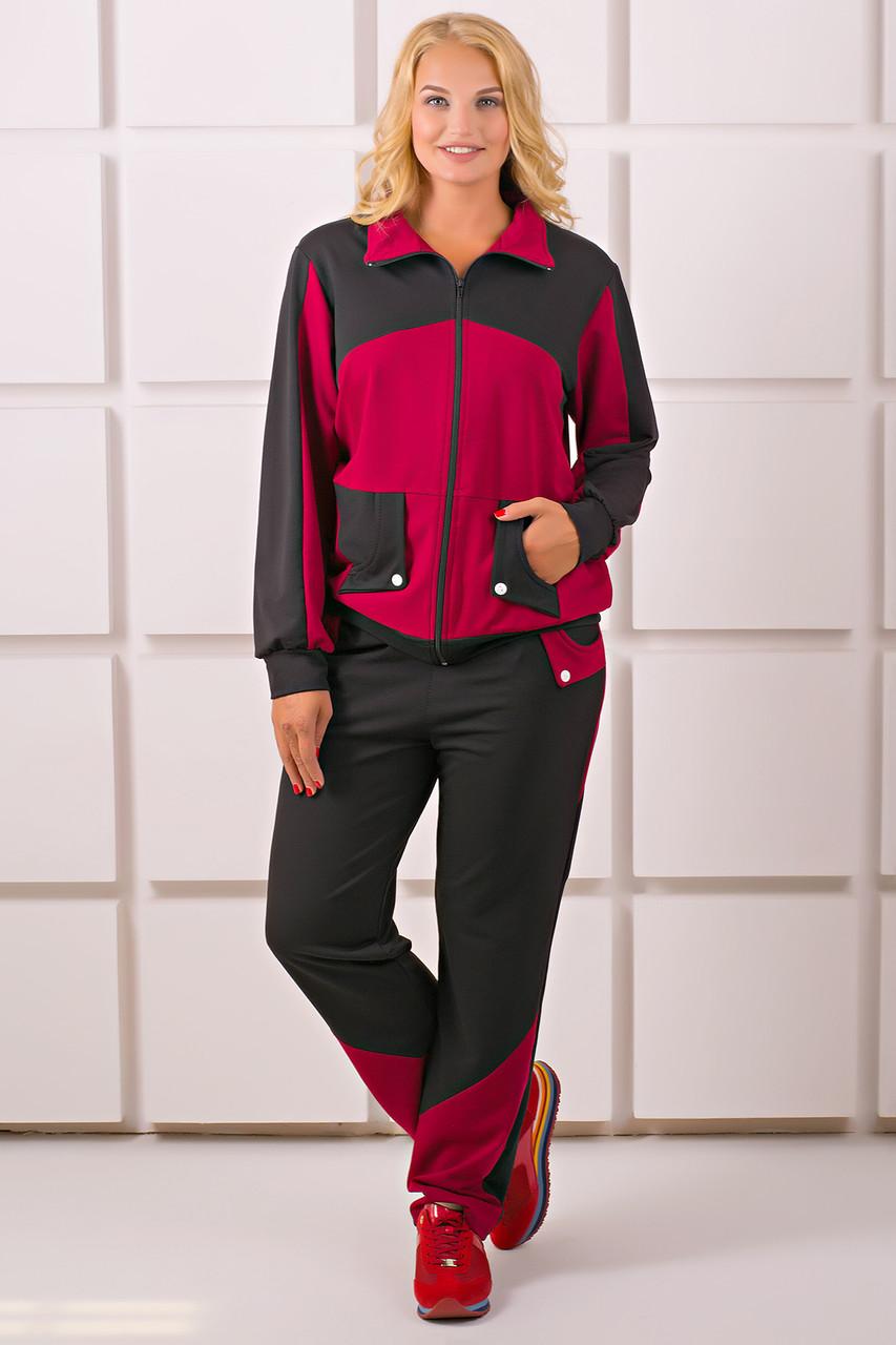 f95cb897c1b Я-Модна - купить Женский спортивный костюм на осень больших размеров ...