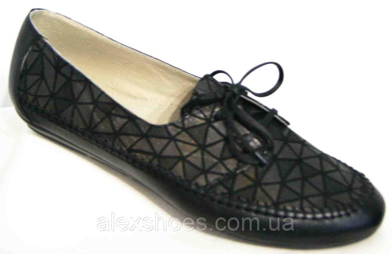 Туфли женские большого размера из натуральной кожи от производителя В3374-6