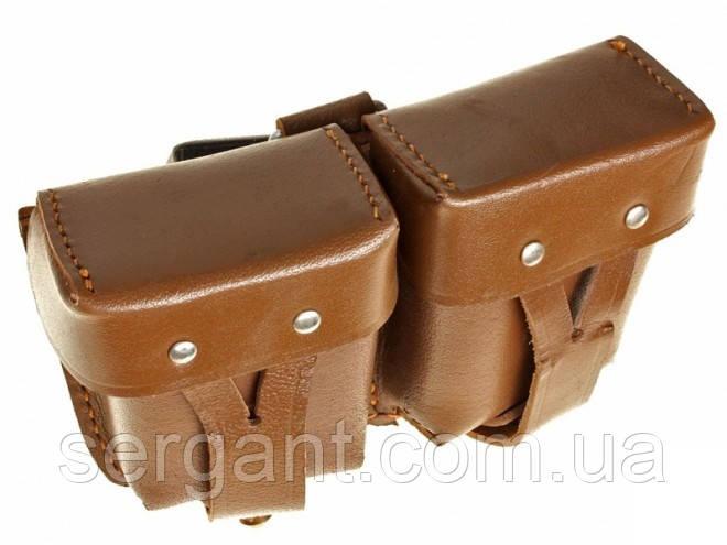 Подсумок кожаный для винтовки и карабина Мосина