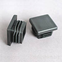 Пластиковая заглушка для профильной трубы 30Х30 мм плоская черная