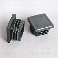 Заглушка 30Х30 мм пластиковая для профильной трубы плоская черная